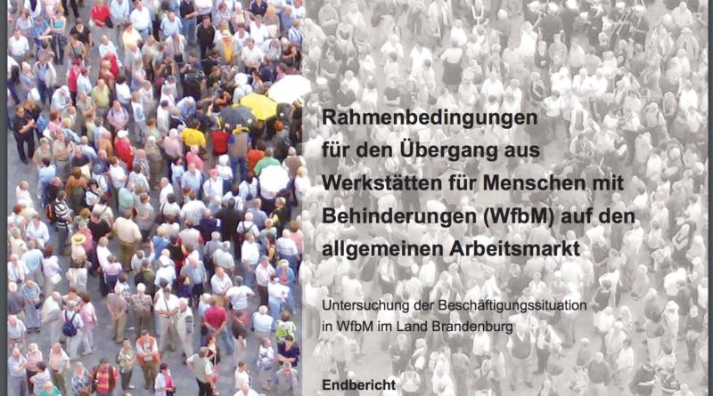 """Studie """"Rahmenbedingungen für den Übergang aus Werkstätten für Menschen mit Behinderungen (WfbM) auf den allgemeinen Arbeitsmarkt"""