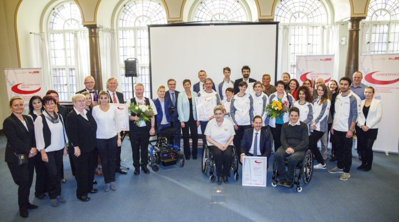 Verleihung des Inlusionspreises 2017 des LAGESO im Roten Rathaus, 4.12.2017