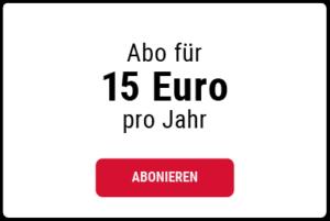 15 Euro Jahresbeitrag wählen
