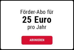 25 Euro Jahresbeitrag wählen