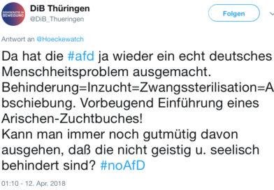 AfD ist eine Schande: Anfrage der AfD-Fraktion