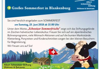 Sommerfest der Albert Schweitzer Stiftung