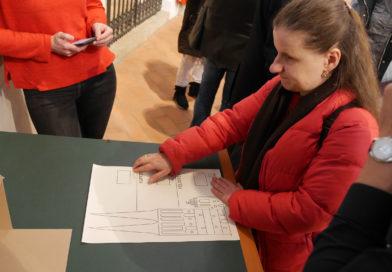 Ausstellungserweiterung für blinde und sehende Menschen