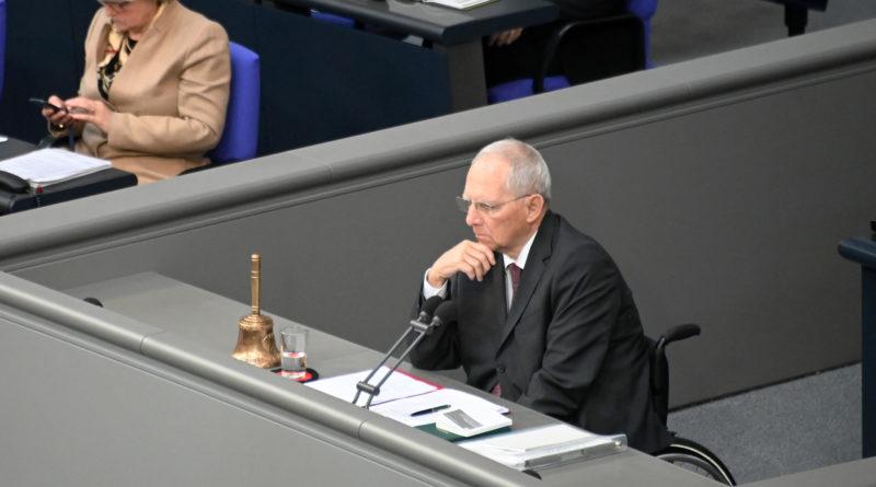 Bundestagspräsident Dr. Wolfgang Schäuble
