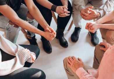 Gesprächskreis einer Selbsthilfegruppe