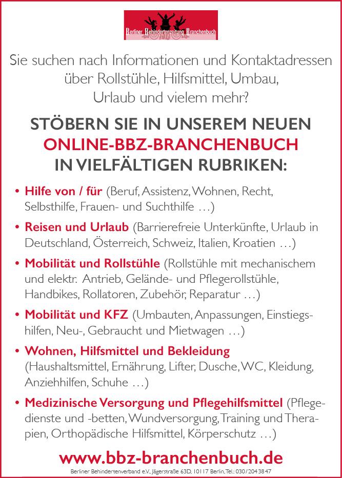 Anzeige für das Online-BBZ-Branchenbuch