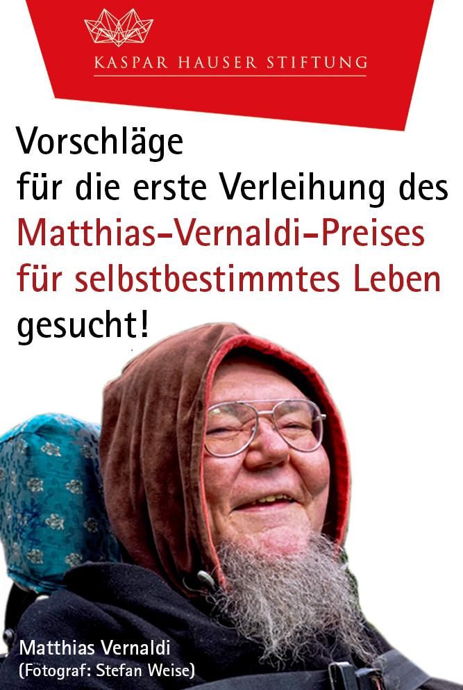 Anzeige für den Matthias-Vernaldi-Preis