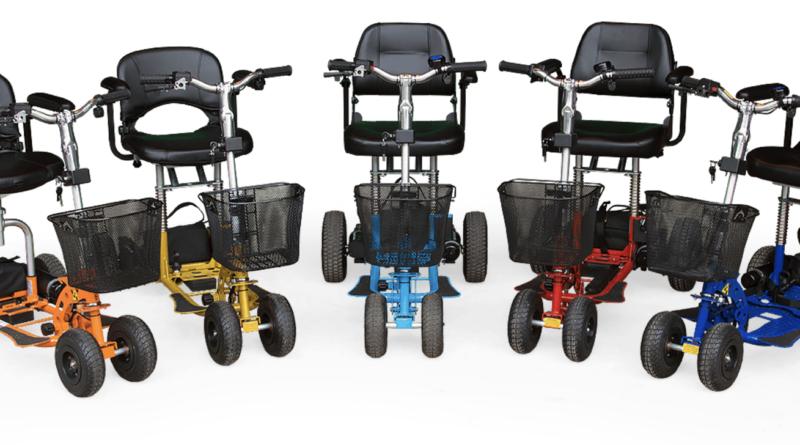 Fünf Scooter in Reihe